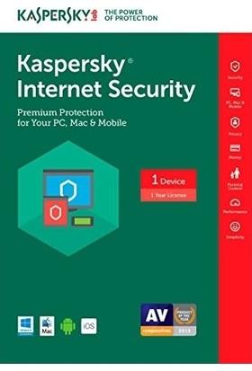 Kaspersky Internet Security 2021 1 Kullanıcı 1 Yıl Türkçe Digital Lisans