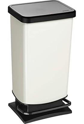 Rotho Paso Pedallı Çöp Kutusu 40 L Beyaz