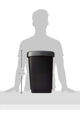 Rotho Swing Çöp Kutusu 25 L Siyah