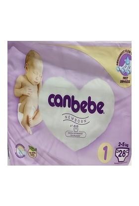 Canbebe Çocuk Bezi No:1 2-5 kg Paket Içi 28'li