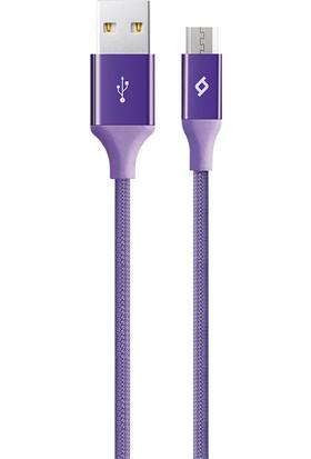 TTec AlumiCable Micro USB Şarj Kablosu - Mor 2DK11MR