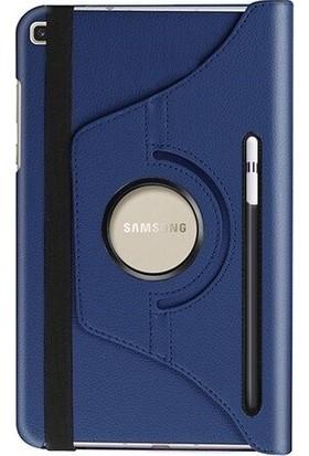 Turotto Samsung Galaxy Tab S6 Lite P610 P615 P617 10.4 Inç Kalemlikli Yatay ve Dikey Standlı 360 Dönerli Uyku Modlu Kılıf - Lacivert