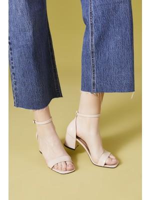 Ziya Kadın Topuklu Sandalet 111415 Z527165 2 Ten