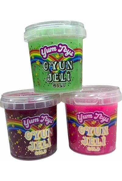 Yum Toys Oyun Jeli Gold - Slime - 135 gr X3'lü Paket - Pembe Yeşil Fuşya