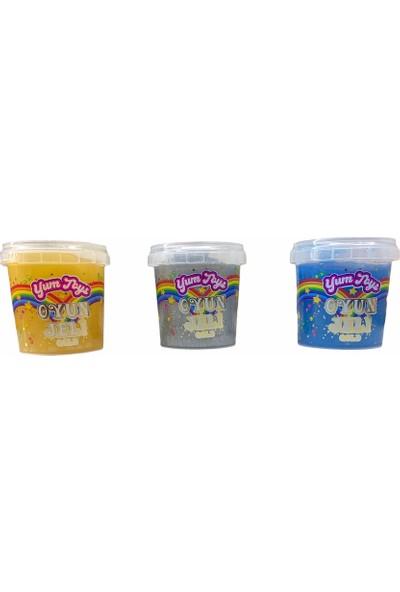 Yum Toys Oyun Jeli Gold - Slime - 135 gr x 3'lü Paket - Sarı Mavi Gri