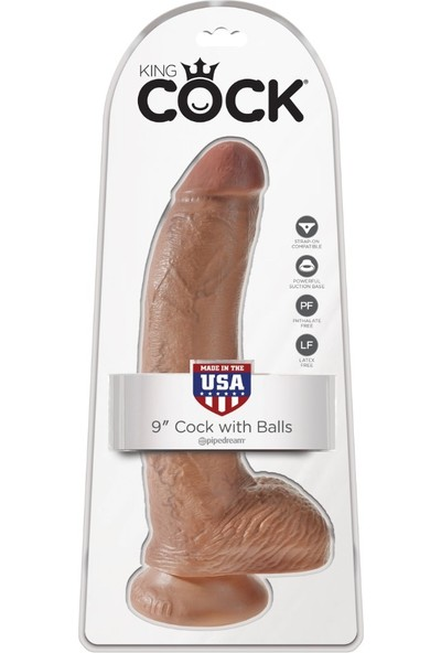 Pipedream Cock 9 Inch With Balls 23 cm Realistik Penis