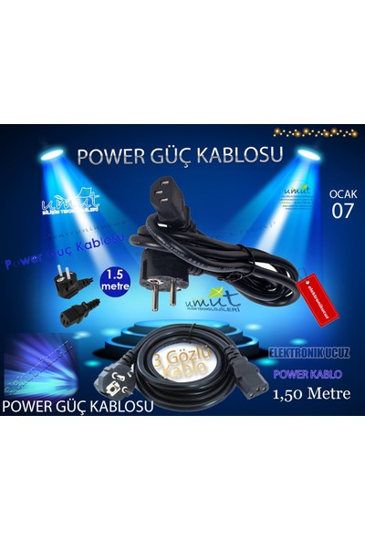 Moonkip Samsung SCX4655F Yazıcı Güç Kablosu ( 220V Ac Power Cord ) ( Ac Power..