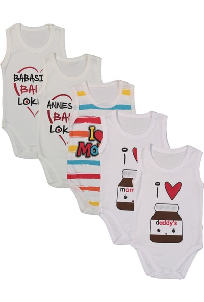 Baby Bakkal 5 Adet Baskılı Body