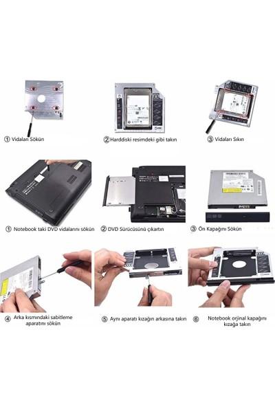 Lineon 9.5mm Notebook DVD To Sata HDD ve SSD Çevirici Kızak
