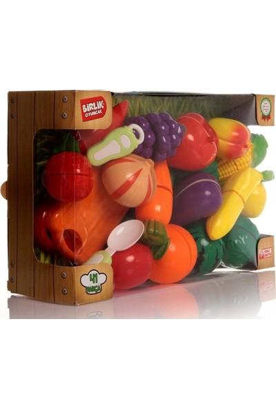 Birlik Oyuncak Kutulu Kesilebilir Oyuncak Meyve&sebzeler 22 Parça Set