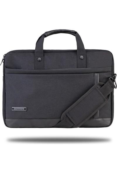 """Classone Ravenna VP1500 15,6"""" Su geçirmez kumaş ve fermuar Laptop , Notebook, El Çantası-Siyah"""