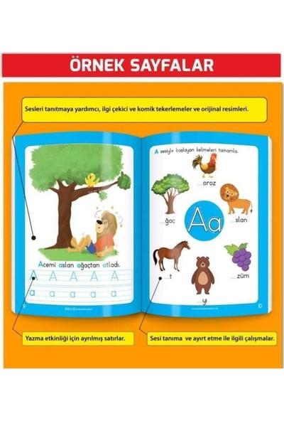 Ayas Eğitici Oyuncak 3-6 Yaş Yaz-Sil Komik Alfabe Kitabım ( Sesli ) - Etkinlik Seti