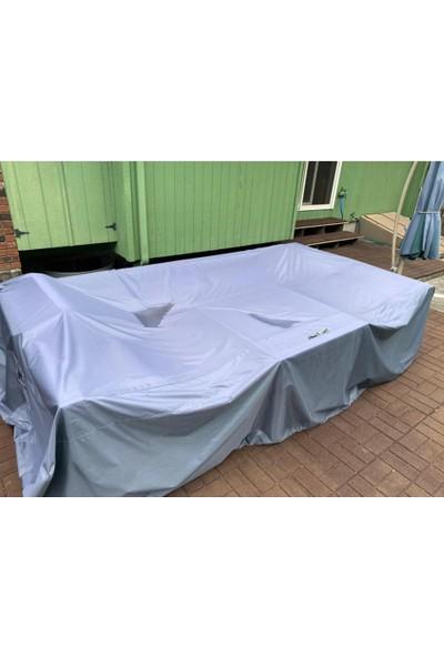 Coverplus Bahçe Mobilya Koruma Örtüsü Su Geçirmez Branda 300 x 160 x 80 cm - Gri
