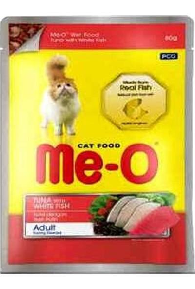 Me-O Jöle Içerisinde Ton Balıklı ve Alabalıklı Pouch Yetişkin Kedi Konservesi 80 gr x 6 Adet