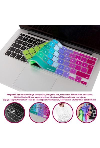 """MacBook Klavye Koruyucu Air Pro Retina 2016 Öncesi Tüm Modellere Ingilizce Türkçe Baskı 13"""" 15 17"""" 652"""