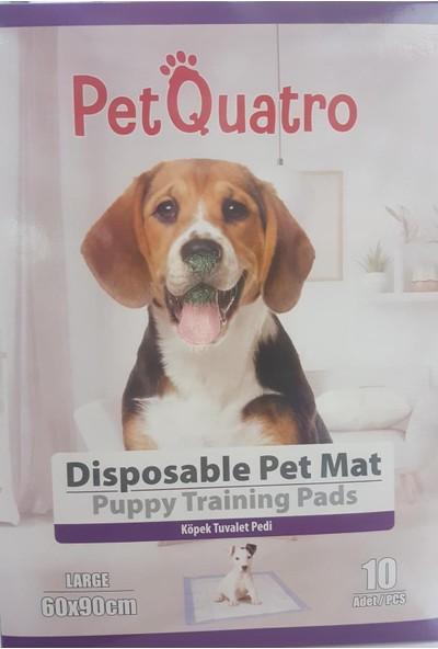 Petquatro Köpek Tuvalet Eğitim Pedi Large Kokusuz 60X90 cm Large Beyaz