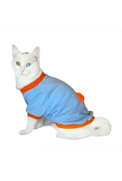Kemique Ponçik Oval Yaka Tişört Kedi Kıyafeti Kedi Elbisesi