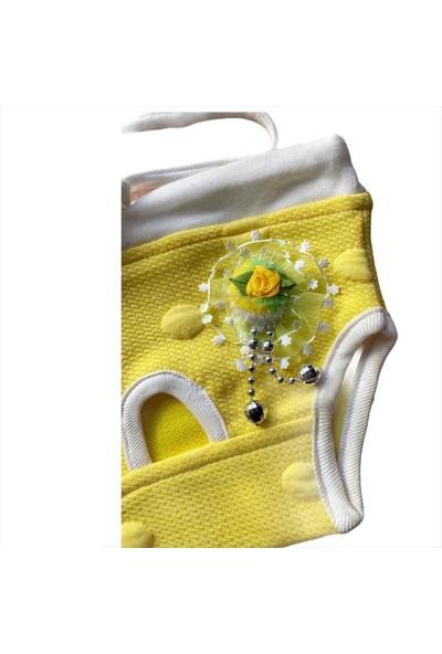Kemique Yellow Flower Kedi Iç Çamaşırı Regl Külot Don