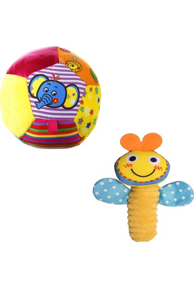2'li Set Biba Çıngıraklı Topum & Biba Sık Sık Arıcık