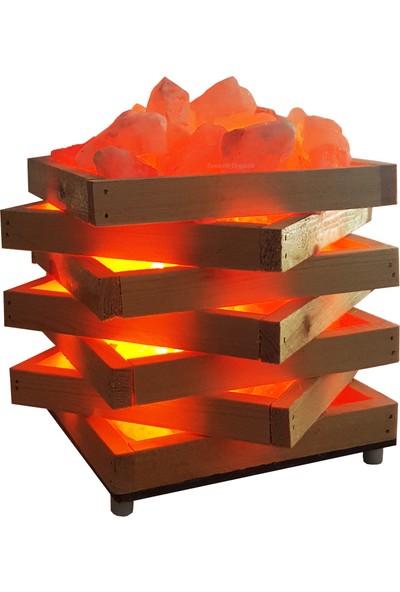 Zencefil Organik Kasa Modeli Tuz Lambası Himalaya Tuz Lambası Tuz Kasası Model 2