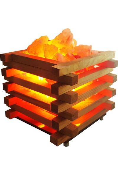Zencefil Organik Kasa Modeli Tuz Lambası Himalaya Tuz Lambası Tuz Kasası Model 3