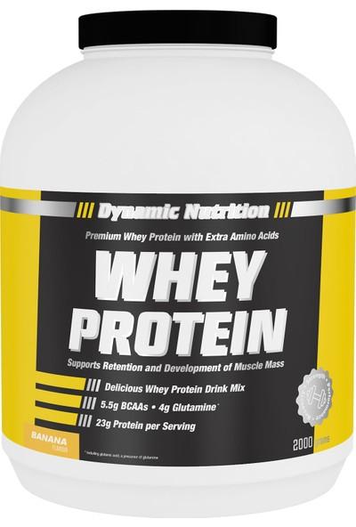 Dynamic Nutrition Dynamic Whey Protein Tozu 2000 gr Muz Aromalı