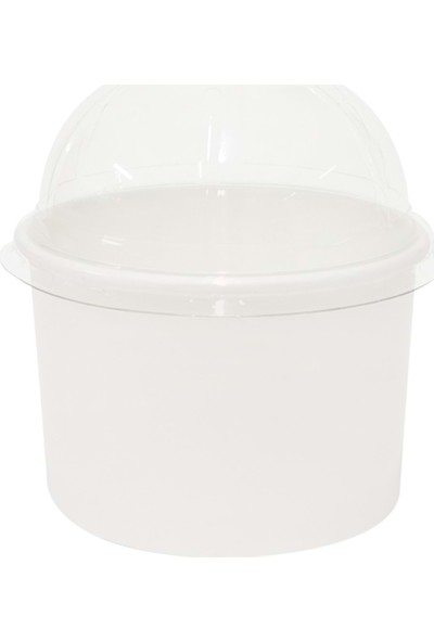 Orego Karton Dondurma Kasesi Beyaz 230 cc - 50'li