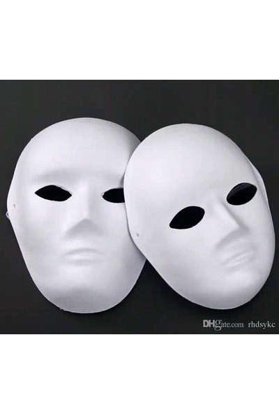 Hobialem Karton Maske, Boyanabilir, Eğitici Maske Boyama, Etkinlik ve Hobi Maskesi 10'lu