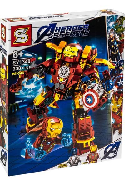 Elifeshop ES1340 LEGO Seti Avengers Yenilmezler End Game Serisi Iron Man MK46