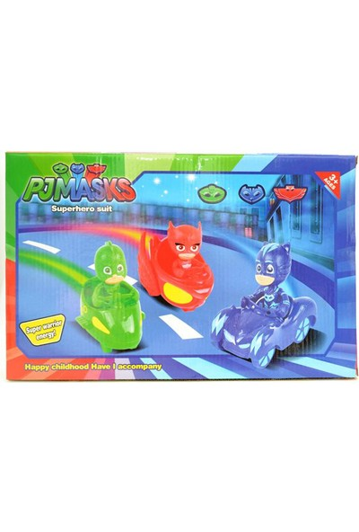 Elifeshop ES3363 Pjmasks Pijamaskeliler Aksiyon Figür Oyuncak Seti & Araçları & Aksesuarları