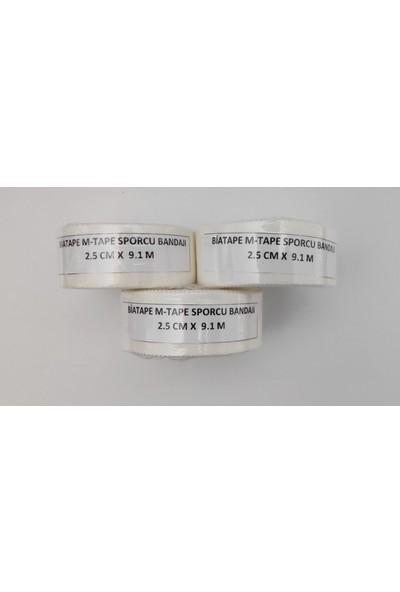 Biatape M-Tape Sporcu Bandajı 3'lü (2,5 cm x 9 M Den 3 Adet)