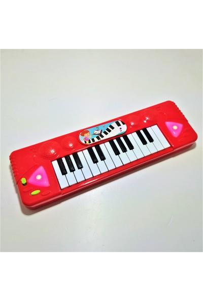 Kahraman Oyuncak Piyanom Müzik Klavye Org Işıklı 25 Şarkı Işıklı Kırmızı