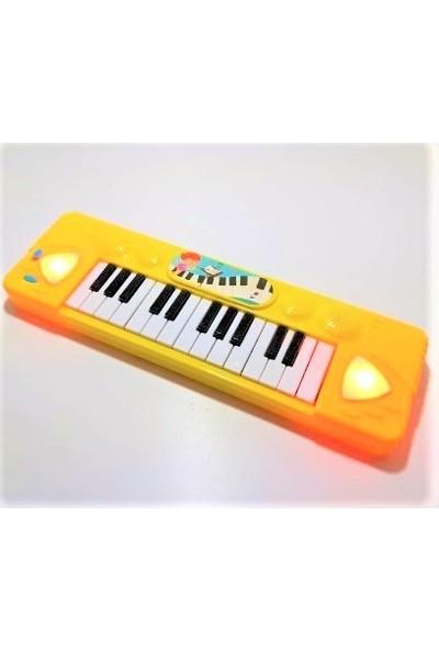 Kahraman Oyuncak Piyanom Müzik Klavye Org Işıklı 25 Şarkı Işıklı Sarı