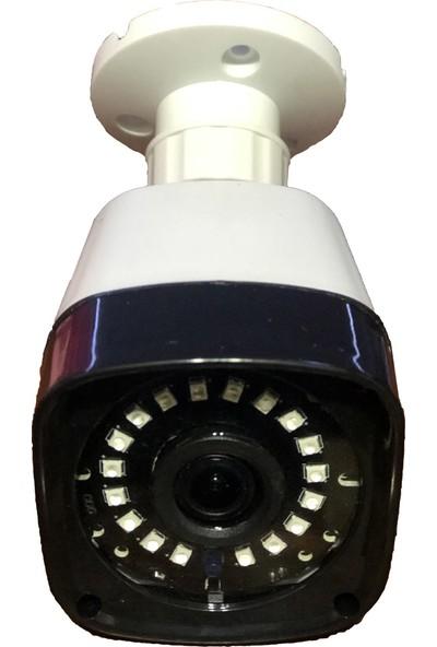 QROMAX PRO 5118 4'Lü 5 Megapiksel Sony Lens 1080P Aptina Sensör Plastik Kasa Güvenlik Kamerası Seti