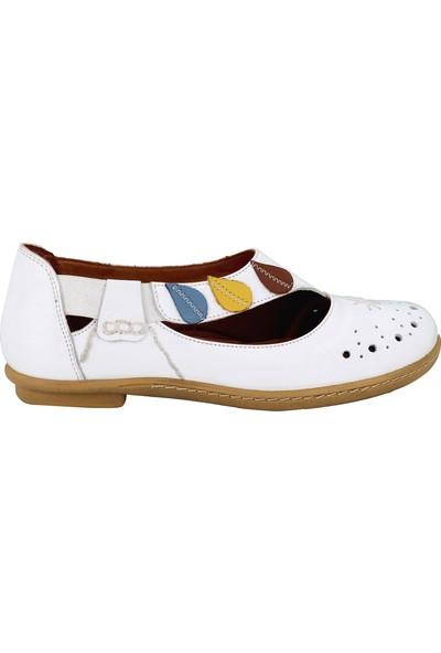 Venüs Beyaz Deri Kadın Günlük Ayakkabı 1911311Y