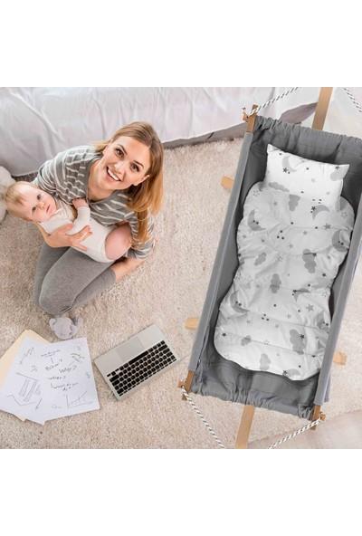 Elele Ahşap Bebek Hamak Beşik Oyuncaklı ve Minderli