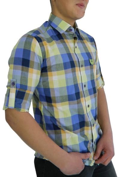Compact Erkek Slim Fit Ekose Gömlek 172701