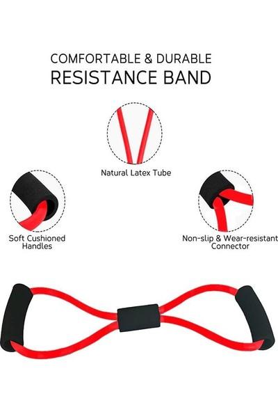 Jetfast Egzersiz Spor Yoga Plates Band Direnç Jimnastik Bant Pilates Spor Direnç Bandı Lastiği Ipi
