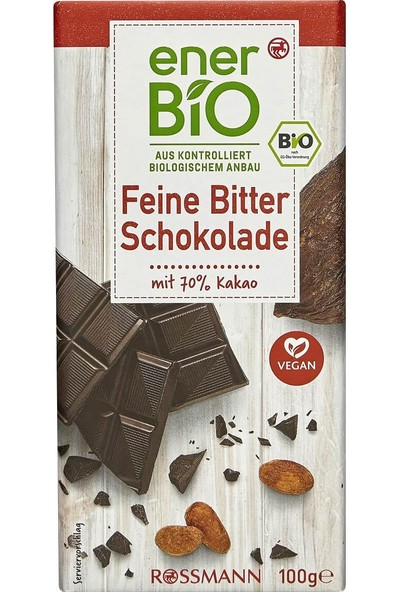 Enerbio Organik Çikolata Bitter 100 gr