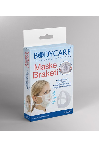 Bodycare Maske Braketi 5 Adet Beyaz