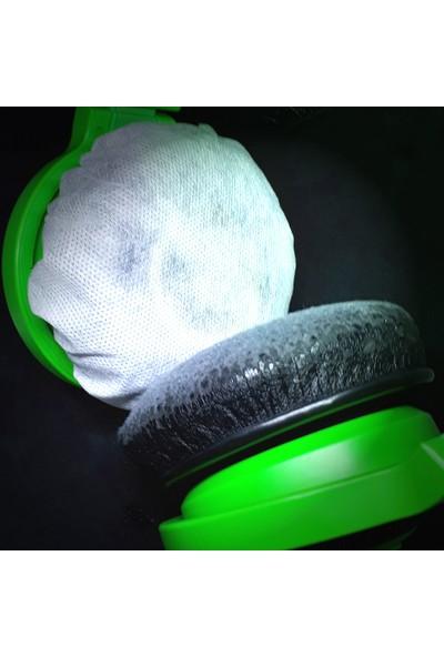 Daytona Hijyenik Tek Kullanımlık 11CM 1000 Adet Kulaklık Süngeri Kılıfı Kulaklık Bonesi-Beyaz