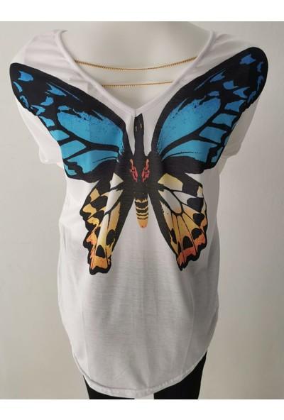 New Now Kadın Sırt Baskılı Tişört