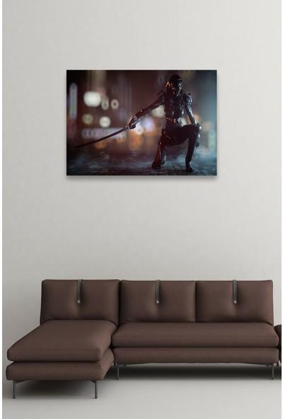 Dom Dekor Katana ve Robot 70 x 100 Kanvas Tablo