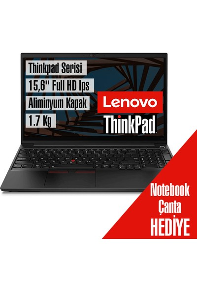 "Lenovo Thinkpad E15 Gen 2 Amd Ryzen 7 4700U 16GB 256GB SSD Freedos 15.6"" Fhd Taşınabilir Bilgisayar 20T8001STX2"