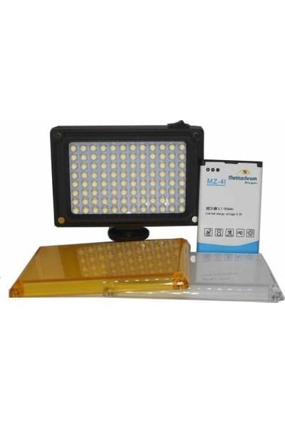 Mettzchrom 96 LED Video Kamera Tepe, Youtuber Işığı, Ürün Çekim Kamera Işığı Ft-96 1500MAH Çift Bataryalı