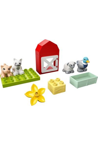 LEGO® DUPLO® Town Çiftlik Hayvanı Bakımı 10949 Çocuklar için Yaratıcı bir Oyuncak; Parçalarla Yapılan Çiftlik Oyun Seti ve 4 Hayvan Figürü (11 Parça)