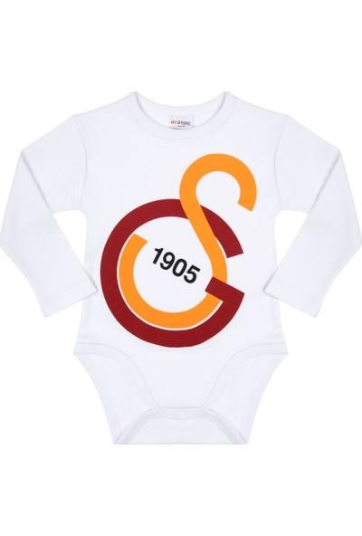 Galatasaray Lisanslı Uzun Kol Bebek Body Zıbın Hediyelik Ahşap Kutulu