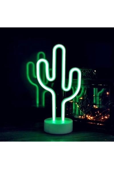Lumenn Kaktüs Pilli Neon Gece Lambası-Led Aydınlatma