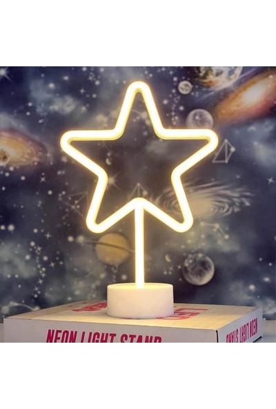 Lumenn Yıldız USB Neon Gece Lambası-Led Aydınlatma