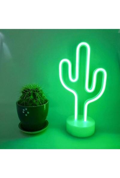 Lumenn Kaktüs USB Neon Gece Lambası-Led Aydınlatma